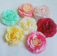 artifcial flower - cm New Artifcial Silk Fabric Camellia Rose Flower Heads For Wedding Hair Dress Accessories
