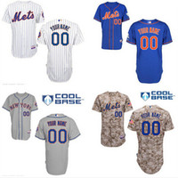 custom baseball jersey - Custom New York Mets Alternate Blue Jersey New York Mets Personalized Home White Pinstripe Road gray Cool Base baseball Jersey