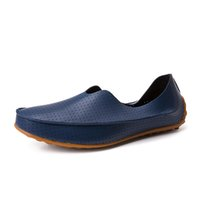 Wholesale Men Casual Shoes Breathable Men Loafers Leather Slip On Flat Shoes For Men Fashion Driving Shoes Boat Chaussure Homme