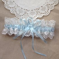 bachelorette party gifts - Baby Blue Bridal Garter Vintage Lace Wedding Garters Wedding Party Gift Bachelorette Garter For Women