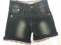 baby wholsale - 2016 Hot Summer Short Baby Kids Clothing New Boy Shorts Black Elastic Denim Boy Pants Factory Wholsale Fashion Denim MOS T