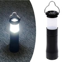Wholesale High quality Waterproof Portable W LM LED Camping Light Lamp Zoomable Retractable tent light use AAA Battery