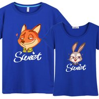 animal collective shirt - Zootopia Men Women Lovers Short sleeve T Shirt Mixed sales Collective Clothing teens Tide men casual clothes Summer clothes