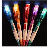 Wholesale Lovely creative stationery strange new Led light flashlight function ball point pen cm in length