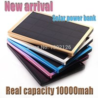 Wholesale New arrival Real mah energia solar power bank super thin backup power pack portable charger for electronics