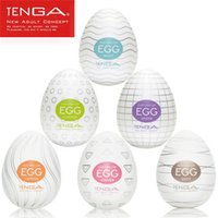 Cheap Wholesale 300 pieces TENGA EGG 001 Masturbators Pocket pussys Adult Sex Toys 6 Styles Japan Male Egg Onacup Silicone Sex Doll with Lubricant