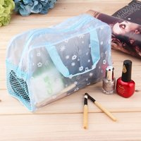 bathing pillow - Hot Floral Print Transparent Waterproof makeup Cosmetic Bag Toiletry Bathing Pouch ZE20000 High quality Random color