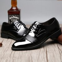 Wholesale New Men Dress Shoes Pointed with Increased Leisure Men s Leather Shoes Leather Breathable Business Wedding Shoes