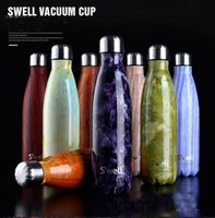 Wholesale 2016 Fashion S well Bottle Stainless Steel Vacuum Flask Cup Swell Sports Mug oz ml Hot Cool Drinking Free DHL