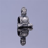Wholesale Vintage Symbol Buddha Beads Original Sterling Silver DIY Holy Religious Charms For Pandora Brand DIY Bracelet Jewellery Making T085