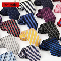 Wholesale brand Men Business Formal NecTie Wedding Fashion neck Ties Leisure Slim Tie Necktie Skinny Stripe Date Tie Party Casual Neck Ties