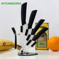 Wholesale Ceramic Knife Set quot quot quot quot inch Paring Fruit Utility Chef Home Kitchen Knives with Peeler and Holder High Quality