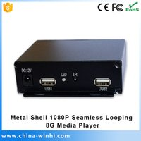 Wholesale NAND FLASH G Rolling Caption Digital Signage Box volt media player with hdmi usb