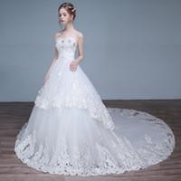 Wholesale deep v neck lace mermaid New style Korean strapless lace wedding dresses Evening Dress Sleeveless Floor Length NoneTrain Sleeveless