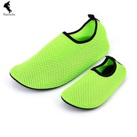 baby red skin - Mesh Sandals Baby Women Men Swimmers WTA Cloth Shoes Wading Shoes Soft Paste Skin Simple Breathable Diving Shoe Barefoot Cool Unisex Cheap