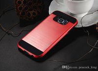 armor types - NEW for Samsung S5 S6 Cover type Colorful Slim Armor Brushed Back CaseTPU PC factory direct supply
