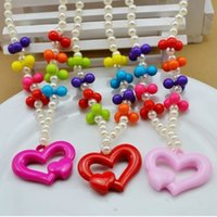big baby jewelry - baby jewelry set big heart multicolour ball necklace bracelet set