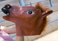 best horror masks - Creepy Horse Mask Head Halloween Costume Theater Prop Novelty Latex Rubber Party Masks party animal cartoon mask best