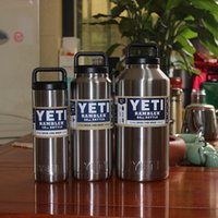 big mugs - BIG YETI Cups Yeti Rambler Tumbler Stainless Steel oz big car mug Bilayer Vacuum Insulated beer cup travel Mug