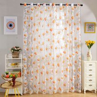 Wholesale Sheer Curtains cm x cm Floral Rustic Tull Voile Door Window Balcony Curtains Panels Drapes Curtain DHL w