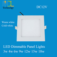 Wholesale LED panel lights Square W W W W W W W led ceiling recessed downlight panel lights for home lighting DC12V led driver