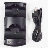 Wholesale New Arrival USB Powered Dual Charging Dock Charger for Sony for PlayStation for PS3 Move Navigation and Controller