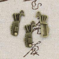 antique golf bags - 120pcs Charms golf bag mm Antique Making pendant fit Vintage Tibetan Bronze DIY bracelet necklace