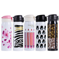 Wholesale Lovely Sport Style ML Stainless Travel Mug Coffee Tea Vacuum insulated Thermal Cup Bottle Stainless Steel Thermos