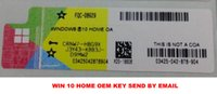 Wholesale 2016 new win10 home OEM key stickers online activation send by e mail