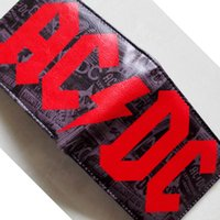 ac dc wallet - Music Band AC DC Band ACDC LOGO wallets Purse Red cm Leather W100 New Hot