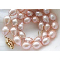 akoya pearl pendants - new MM AAA GENUINE NATURAL AKOYA PINK PEARL NECKLACE K GOLD CLASP INCH
