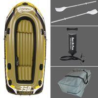 Wholesale 3 Person cm fishing boat inflatable boat kayak cm Alumnium oars pump repair patch carry bag optional