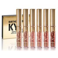 Wholesale New Kylie Jenner Limited Birthday Edition Kylie Matte liquid Lipstick mini gold kylie lip kit