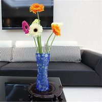 Wholesale DIY flower MIX Size folding PVC foldable small opp bag eco friendly vase from Reliable foldable vase