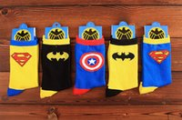 best friend christmas gifts - 2017 Superman Batman Socks Cotton Cartoon Socks Unisex Super Hero Socks Best Christmas Gifts for Friends