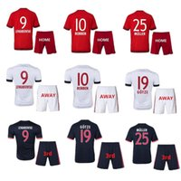 Wholesale 15 hot products camiseta adult kit Bayern Munich Home and Away Soccer jerseys survetement maillot