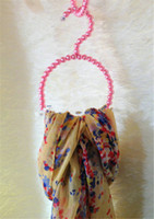 bead hanger - New Style Pearl Plastic hanging Scarf Ring Beautiful Beads Hanger Colors Optional