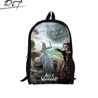 alice backpack - New Alice in wonderland children schoolbag for girls cartoon school bags for teenage girls fashion character bookbag for boys