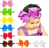 6inch 15color Bows Bande de cheveux Cute Baby Ribbon grands arcs boutique bandeaux Bandanas filles princesse cheveux Accessoires Enfants Accessoires A8919
