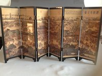 Wholesale From salewig to world GOOD Art Classical Chinese Lacquer Handwork Painting Hainabaichuan Screen Decor