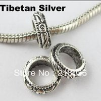 bali silver bracelet - Fashion Antiqued Silver mm Hole Bali Style Charm Bead Fit Bracelet DIY Making Jewelry mm A687