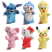 Wholesale Plush Toys hand Puppet Cute Cartoon Glove puppet For Children Originality Educational Toy For Child CM Many styles to choose