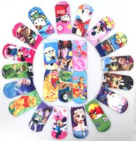 Wholesale 2016 cartoon baby socks breathable printing children socks cm cm candy colors cheap children s socks pair R3