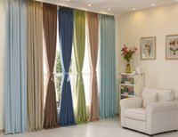 Wholesale 2016 Home Blackout Curtains Solid Color Luxury Curtains Linen Cotton Piece Curtains For Living Room Bedroom