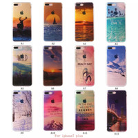 apple shoe - For iphone iphone7 Half Clear TPU Scenery Case Sky Mountain Shoe Ocean View Back Skin Soft Phone Cover for iphone s Plus