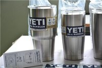 Wholesale 2016 Hot Sale Stainless Steel oz Yeti Cups Cooler YETI Rambler Tumbler Cup Vehicle Beer Mug Double Wall Bilayer Vacuum Insulated ml