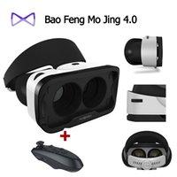 Wholesale Google Cardboard Baofeng Mojing IIII for IOS Baofeng Mojing D Virtual Reality D VR Glasses Bluetooth Wireless Gamepad