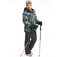 Wholesale Ski set jacket and pants newest winter warm ski skiing snowboard piece outdoor waterproof windproof snow clothes snow suit men