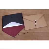 Wholesale A4 Chemical Fiber Carpets File Folder Waterproof File Bags Kraft paper Document bag Papelaria Korean Stationery Office Supplies