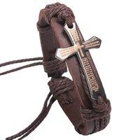 bible wrap bracelet - WholesaNewest Handmade Fashion Leather Bracelet Width Wrap String Religious Jewelry Laser Bible Cross Genuine Leather Bracelet